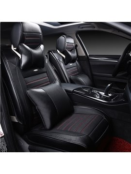 Classic Popular Premium Leather Material Pure Color Car Seat Cover