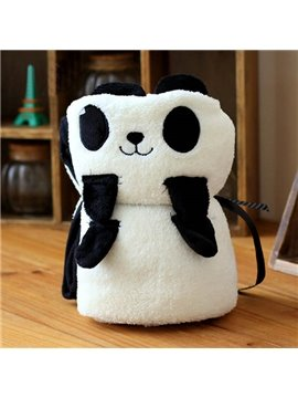 Warm Flannel Bouncy Little Panda Baby Blanket