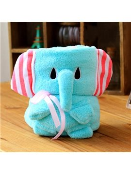 Lovely Elephant Shape Warm Flannel Baby Blanket