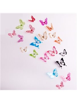 Wonderful Colorful 3D Butterfly Removable 3D Wall Sticker 18 Pieces