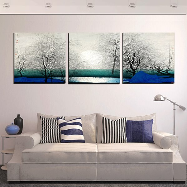 Creative Winter Morning Scene 3-Panel Wall Art Prints