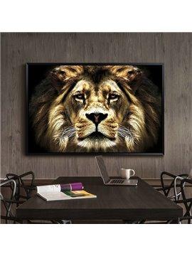 Amazing Lion Pattern 1-Panel Framed Wall Art Print