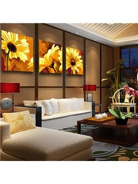 Gorgeous Daisy Living Room 3-Panel Wall Art Prints