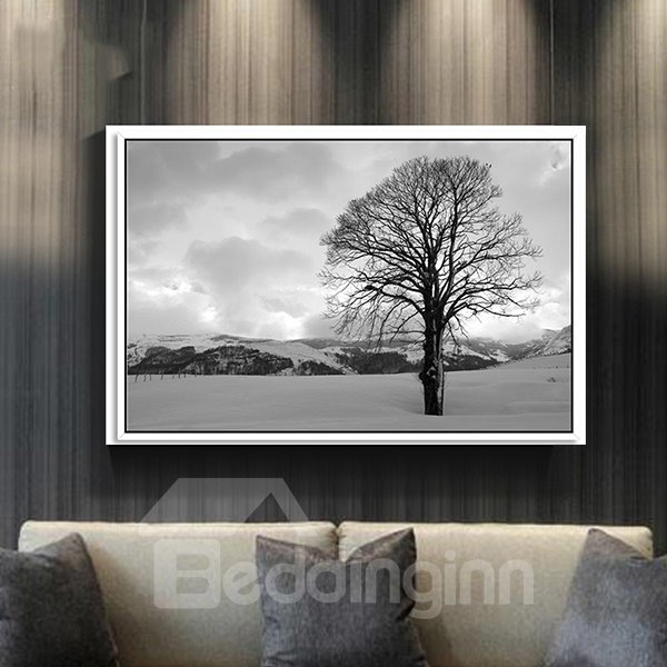 Unique Winter Tree 1-Panel Framed Wall Art Prints