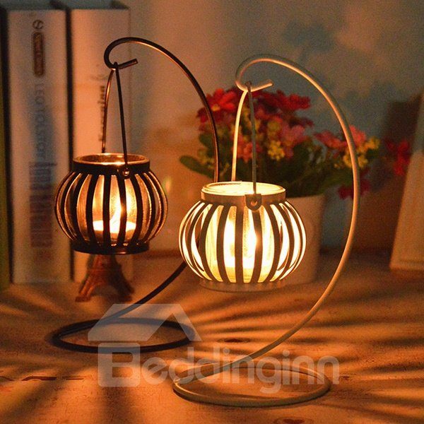 Creative pumpkin design iron candle holder for Creative candle holders