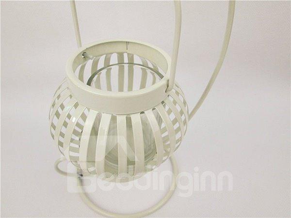 Creative Pumpkin Design Iron Candle Holder