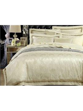 Graceful Noble Jacquard Print Cotton 4-Piece Duvet Cover Sets