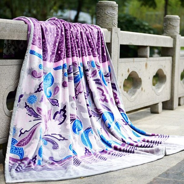 Exotic Purple Top Class Warm Flannel Blanket
