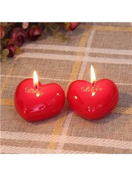Romantic Heart-Shaped 1-Set Candles
