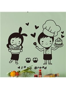 Happy Chef Super Love Bread Print Wall Sticker