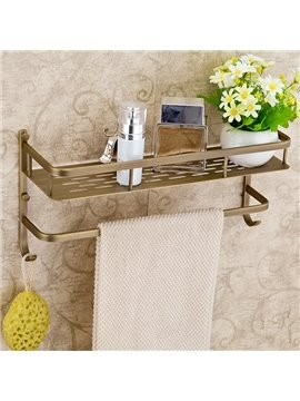 Retro Style High Class 100% Brass Bathroom Shelf