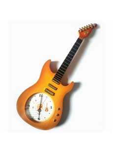 Wonderful Guitar Design Plastic Decorative Mute Wall Clock