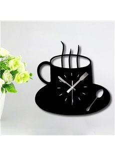 Unique Hot Coffee Cup Design Dining Room Wall Clock