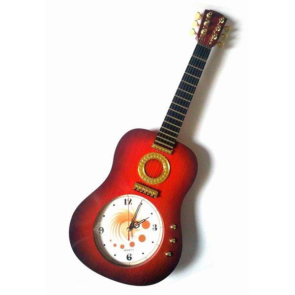 Classic Guitar Design Plastic Decorative Wall Clock