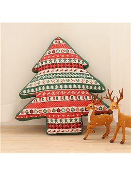 Fancy Christmas Tree Design European Style Throw Pillow