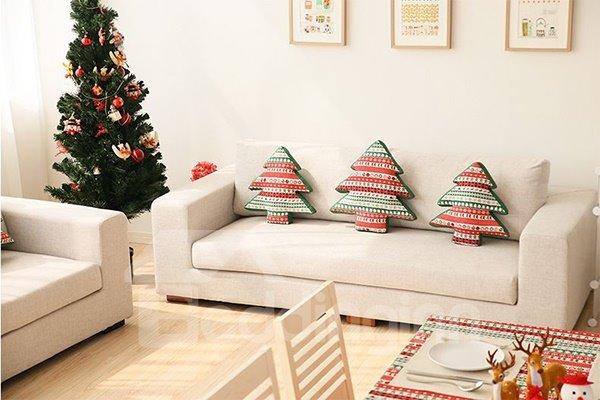 Fancy Christmas Tree Design European Style Throw Pillow