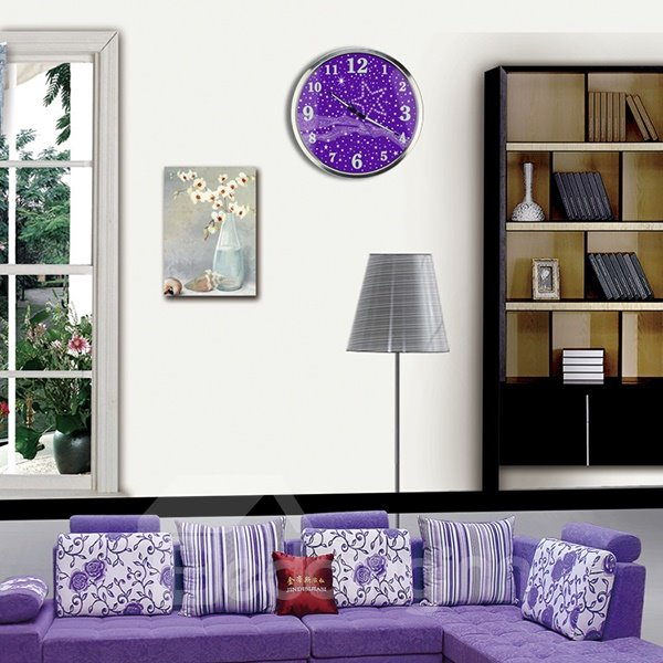 Creative modern luminous bedroom 14 inches mute wall clock for Luminous bedroom