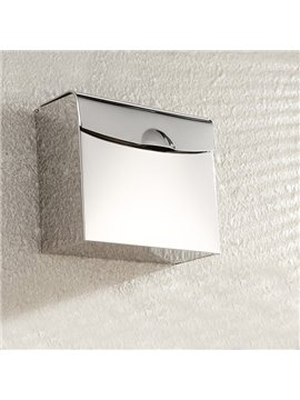 Contemporary Home Decor Super-thick Stainless Steel Rectangle Toilet Paper Holder