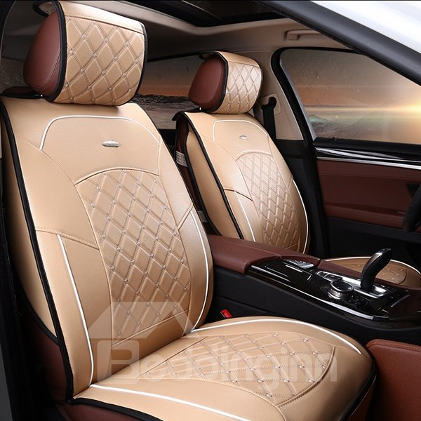 formal and classic plaid patterned leather material car. Black Bedroom Furniture Sets. Home Design Ideas