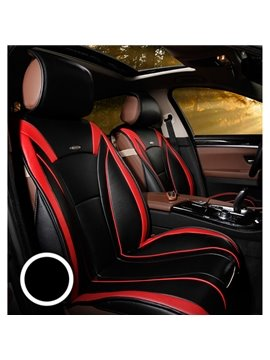 Special Designed Fishionable Contrasting Colored Stripe Leather Car Seat Cover