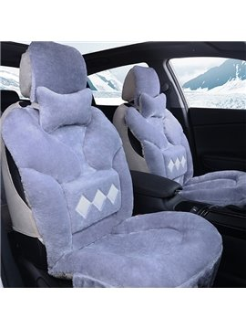 Warm and Comfortable Long Haired Plush Winter Car Seat Cover