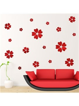 Amazing 5-Piece Acrylic Flowers DIY Removable Mirror Surface 3D Wall Sticker