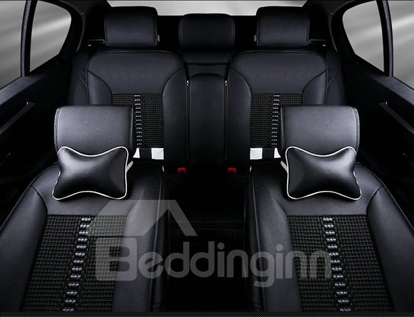 Special Designed And Comfortable Ice Silk Material Plaid Universal Car Seat Covers