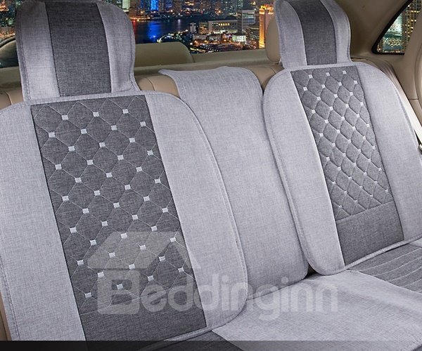 Perfect Plaid Pattern With Luxurious Dual Colored Design Car Seat Covers