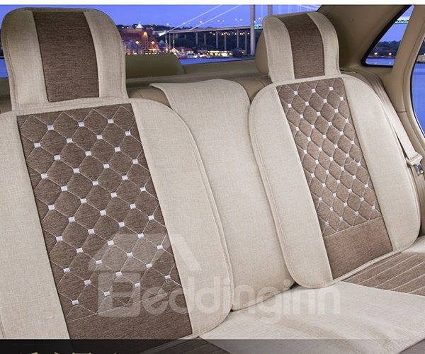 Perfect Plaid Pattern With Lucurious Dual Colored Design Car Seat Covers