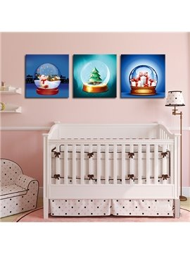 Festival Christmas Theme 3-Panel Kidsroom Wall Art Prints