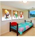 Festival Christmas Theme Cute Snowman 3-Panel Kidsroom Wall Art Prints