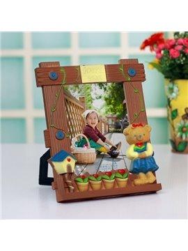 Creative Cute Little Bear Pattern Desktop Kids Photo Frame 7