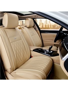 Classic Rhombus Patterned Leather Material Car Seat Cover