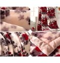Romantic Red Roses Printing Skincare 100% Cotton Blanket