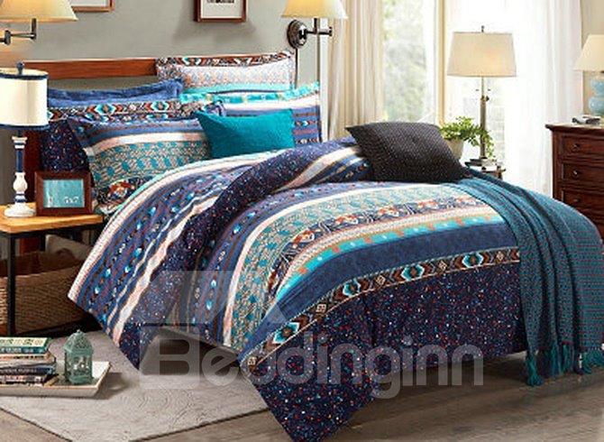 Faddish European Style Cotton 4-Piece Duvet Cover Sets