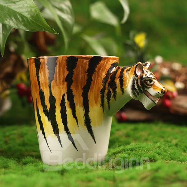 Amazing 3D Tiger Design Ceramic Coffee Mug