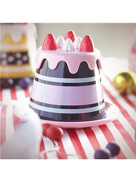 Wonderful Sweet Strawberry Cake Design Plastic Coffee Cup