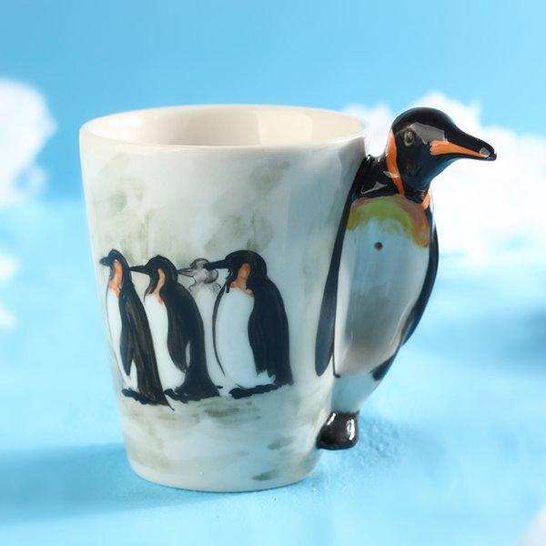 Creative 3D Penguine Design Ceramic Coffee Mug