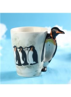 Creative 3D Penguine Design Ceramic Coffee Mug