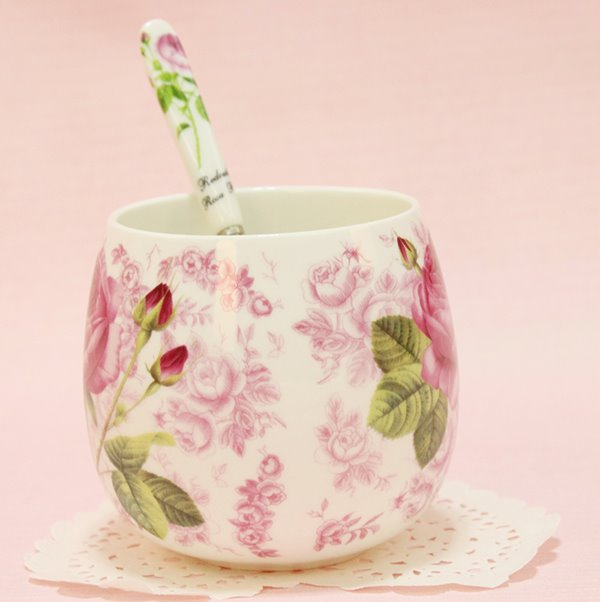 Romantic Roses Pattern 1-Pair Ceramic Coffee Mug Sets Gift Ideas