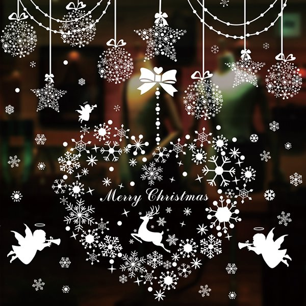 Festival Christmas Decoration Removable Glass Wall Sticker