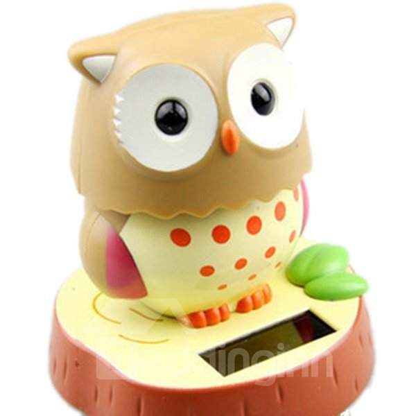 Creative Solar Powered Cute Owl Car Decor