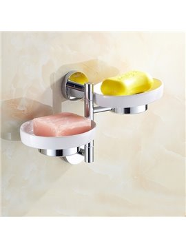 Modern New Style Rotatable Two Layers Soap Holder