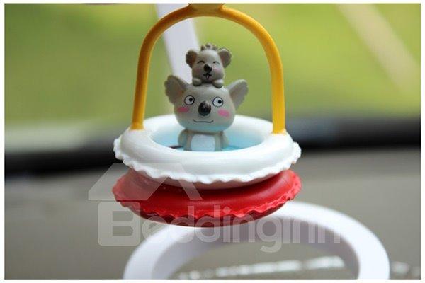 Creative Koala In Swim Ring Cartoon Stand Car Decor