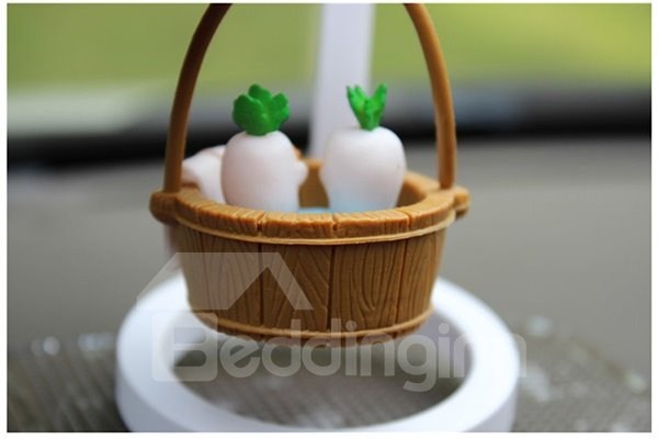 Creative Ternip in Bucket Cartoon Stand Car Decor