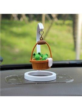 Creative Frog In Bucket Cartoon Stand Car Decor