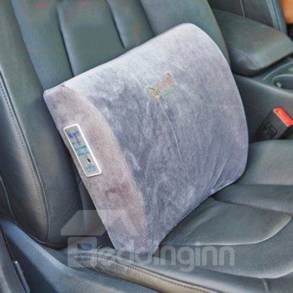 Warm And Comfortable Memory Foam Electric Heating Lumbar Car Pillow