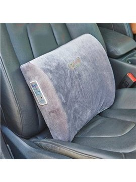 Warm And Comfortable Memory Foam Electric Heating Lumbar Car Pillow