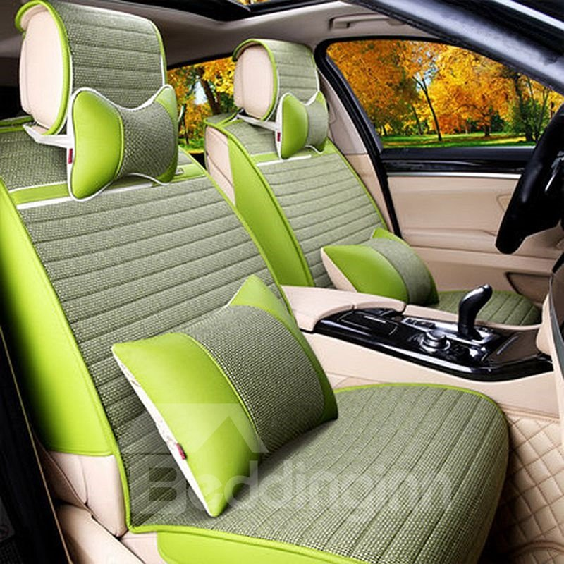 Comfortable and Concise Designed Linen Car Seat Cover