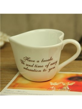 Classic Chic Heart-Shaped Letters Ceramic Coffee Mug